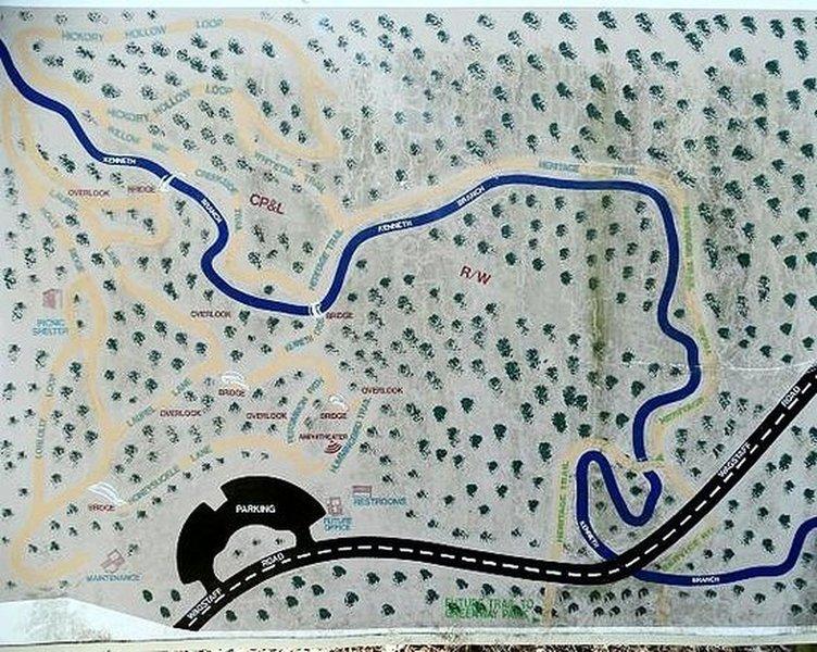 Trail Map of the Carroll Howard Johnson Environmental Parl