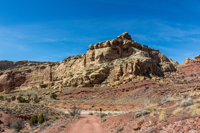 San Rafael Reef from the Behind-the-Reef Road just past Bell Canyon