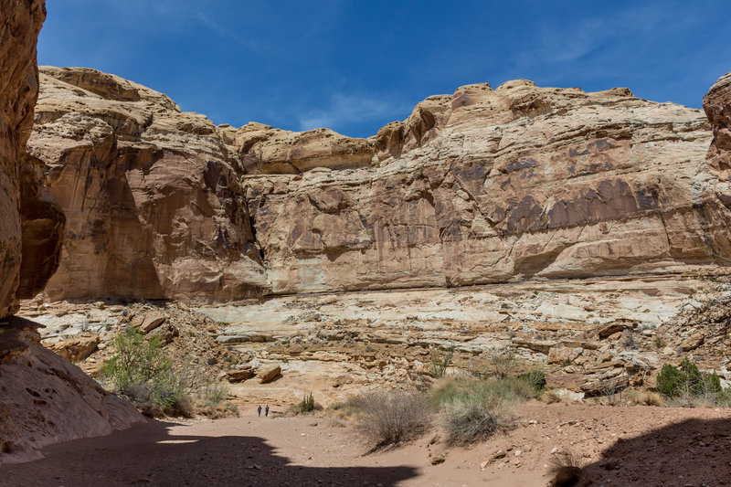 The sheer scale of the Little Wild Horse Canyon is very impressive. Can you spot the two people in the wash?