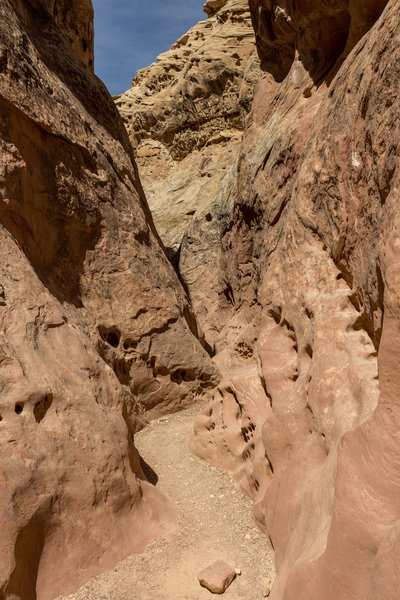 Little Wild Horse Canyon is no place for people who don't like confined spaces