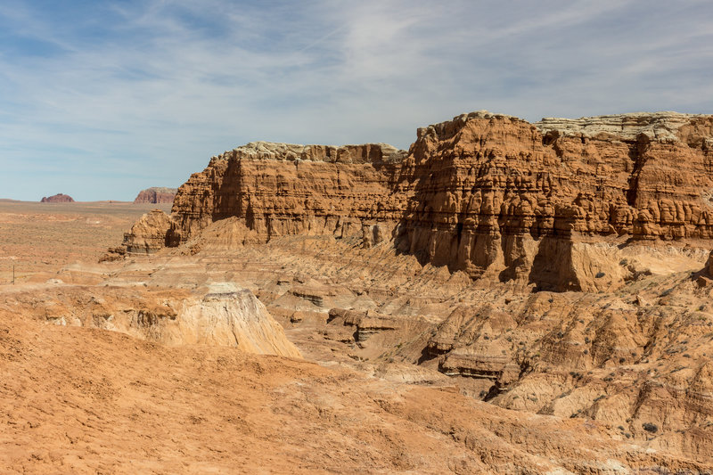 The northern end of Goblin Valley