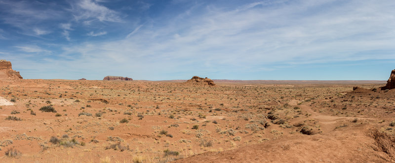 The area east of Goblin Valley State Park is actually quite barren and desolate