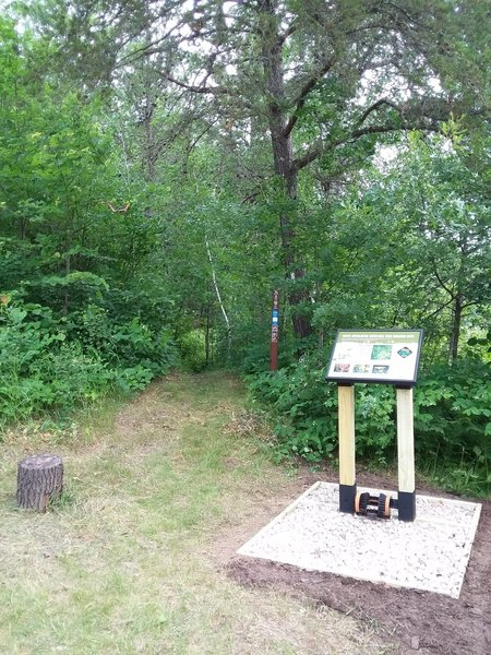 Be sure to use the boot brush station before hitting the trail to prevent carrying in any invasive plants.