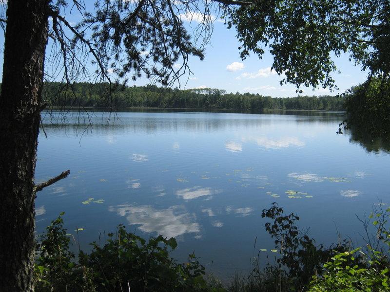 The view across Waboose Lake