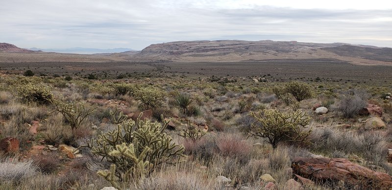 Along Knoll Trail you can look out to see the Cowboy Trail Rides canyon area