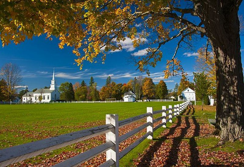 The green at Craftsbury Common and Sterling College