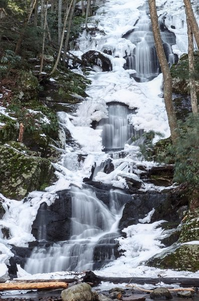 A winter view of Buttermilk Falls in the Delaware Water Gap National Recreation Area