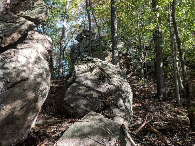 """""""Boulder Ridge"""" features many such large rocks and cliffs."""