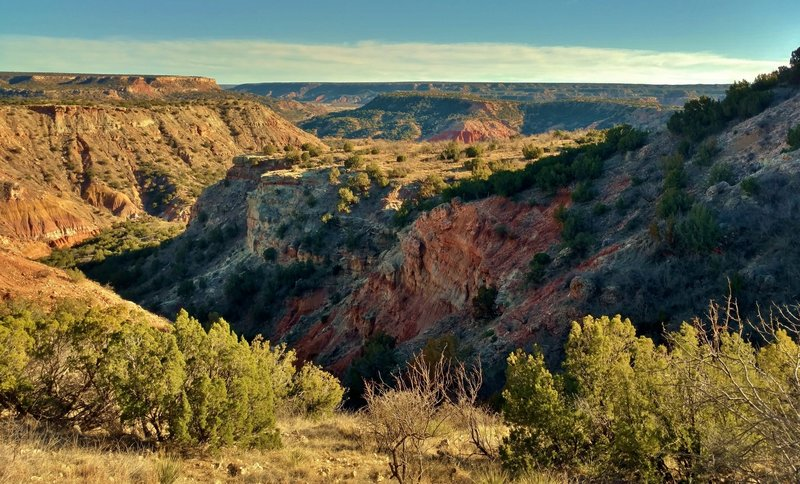 Palo Duro Canyon looking southeast from about a quarter mile from the CCC Trail start.