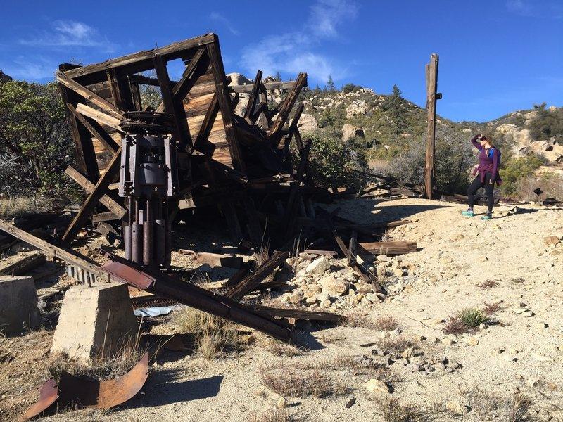 Mining equipment at the Gold Shot Mine.