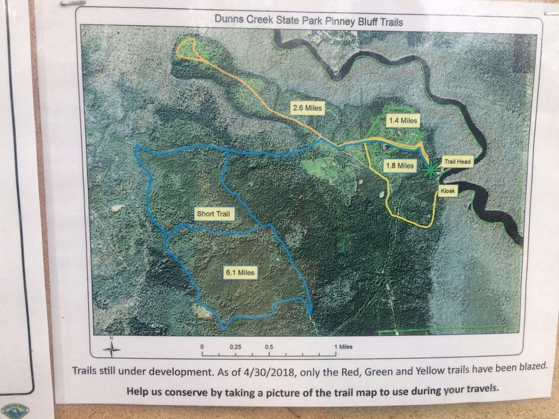 Dunns Creek State Park Trail Map