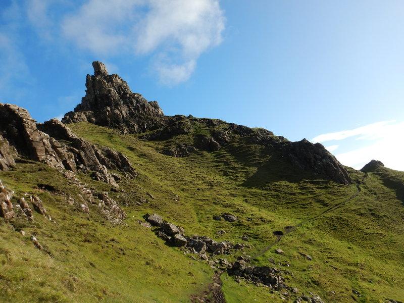 Quiraing climbing towards the Needles