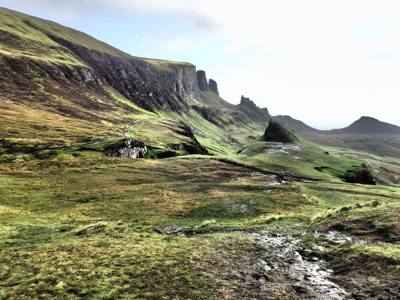 Quiraing approach from the parking area