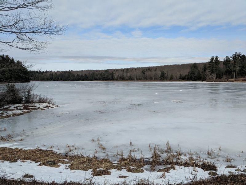 York Lake in winter