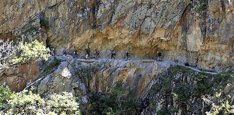 Rock mountain path