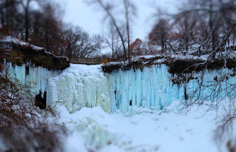 Minnehaha Falls Regional Park in winter