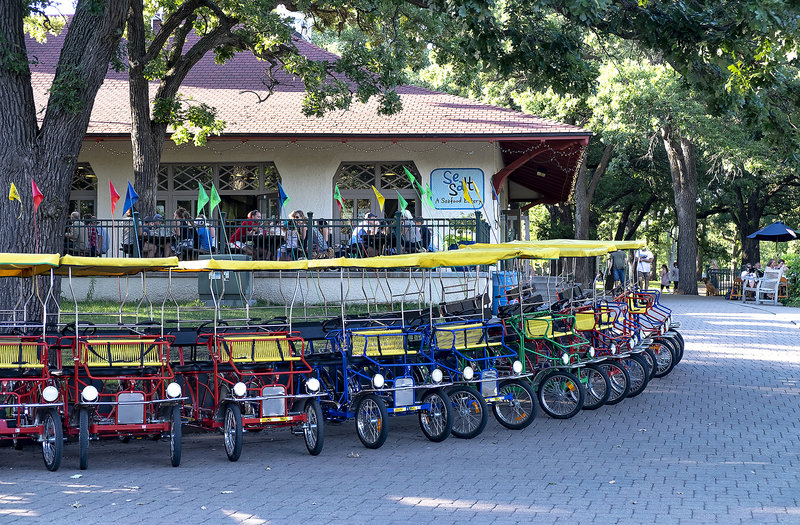 Grab an ice cream cone, rent a pedal cruiser for the family and hit the trails, ....or skip it and have some seafood (or beer & wine) at Sea Salt.