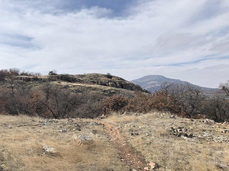 Flat area on the Orange Trail