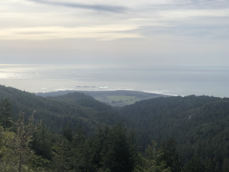View of Año Nuevo from Chalk Mountain