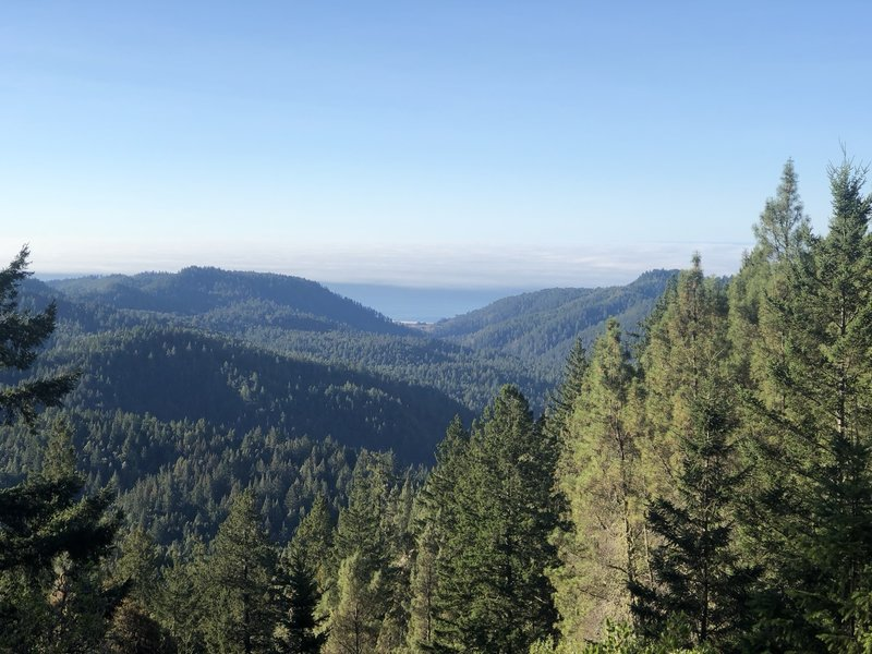 View of the ocean from Mt. McCabe Overlook.