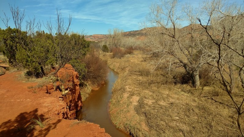 Prairie Dog Town Fork of the Red River next to Kiowa Trail.