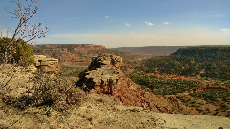 Goodnight Peak at the end of a ridge, overlooks Palo Duro Canyon.