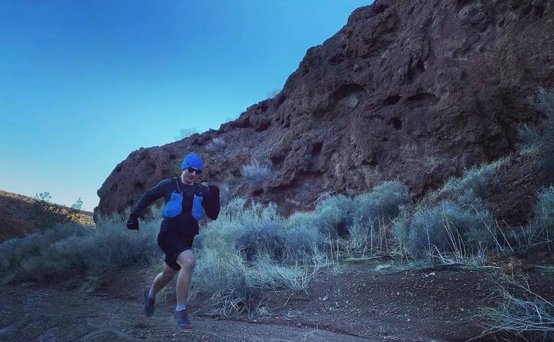 Running through one of the canyons.