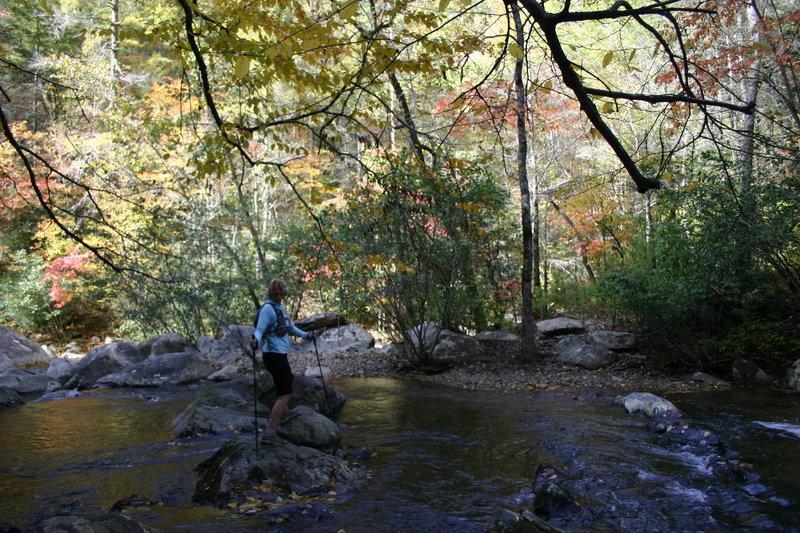 One of many creek crossings!