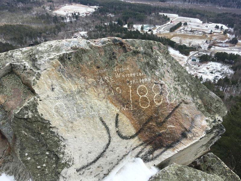 Inscription Rock on Squaw Peak Trail.