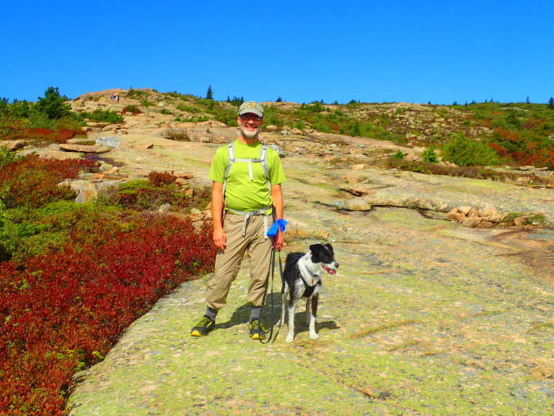 Who knew?  Dogs on leash are allowed on all Acadia NP trails!