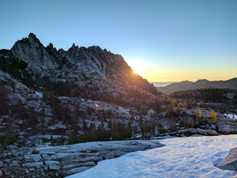 Sunrise Over Prusik Peak