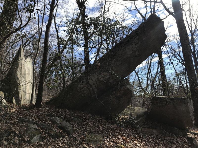 Interesting rock formation.