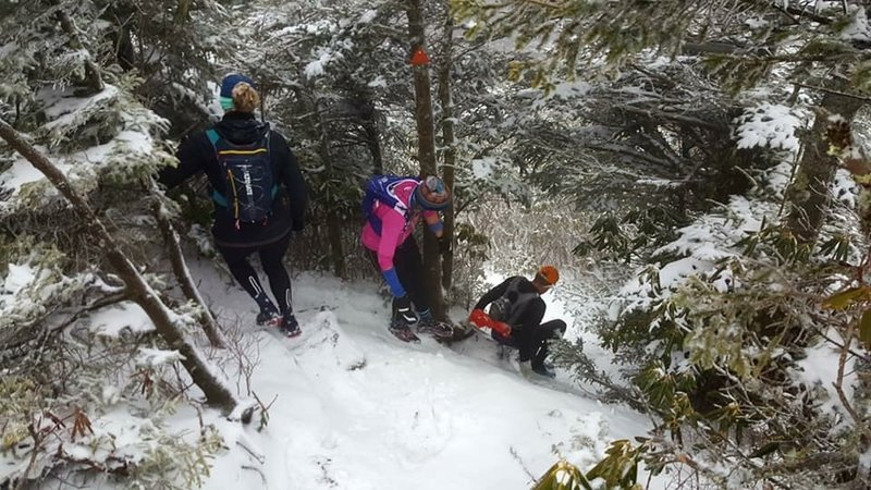 Running the Black Mountain Crest Trail is even more fun in the snow!
