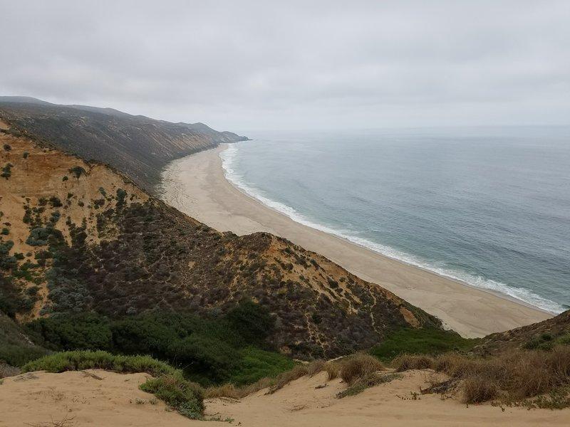 Overlooking Paradise Beach.