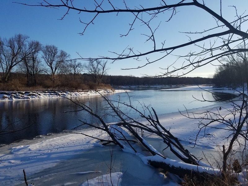 St. Croix River in winter