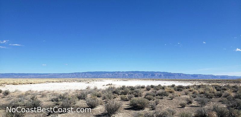The playa with the Sacramento Mountains rising beyond.