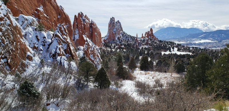 Cathedral Valley's red sandstone formations.