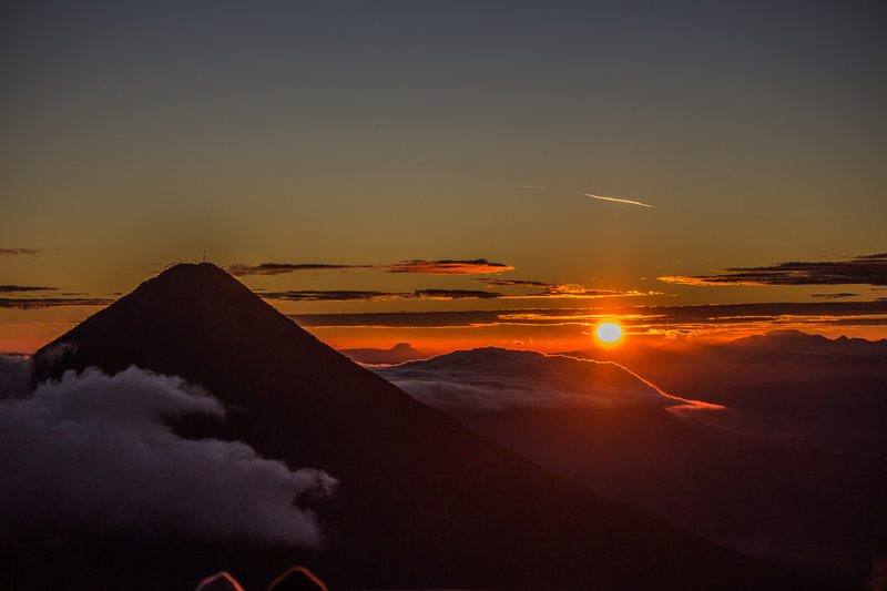 Volcán De Agua At Sunrise From Las Terrazas On The Se Slope