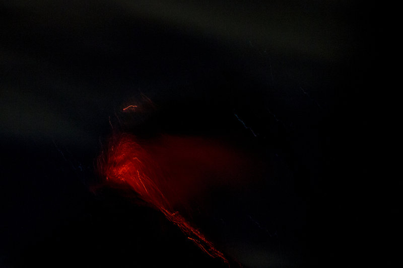 Volcán de Fuego in the predawn darkness from Acatenango. THIS is why you want to go!!!!