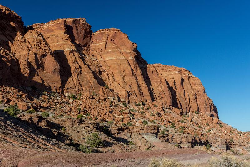 Meeks Mesa Cliffs from Chimney Rock Trail