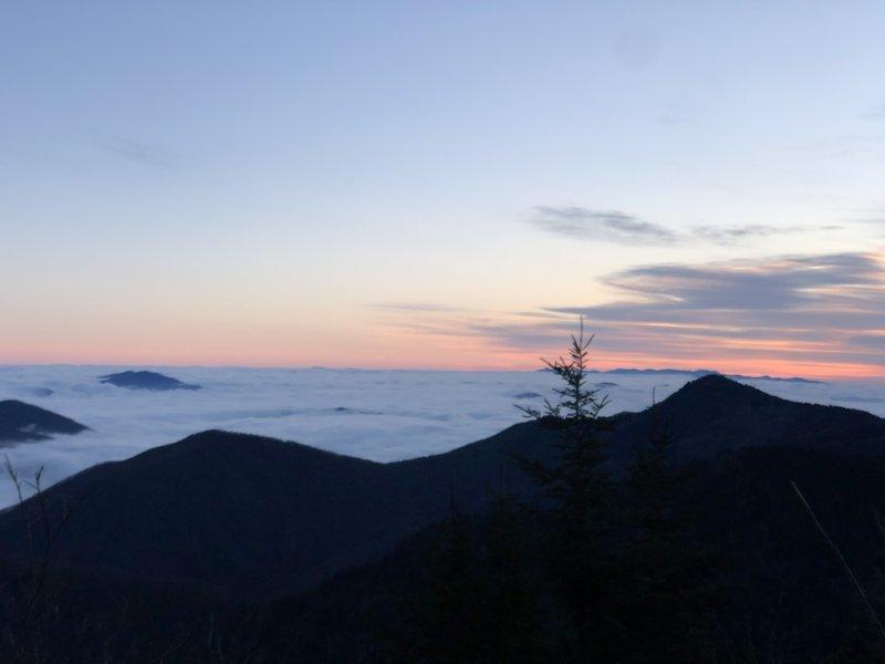 Sunrise on the top of Waterrock Knob