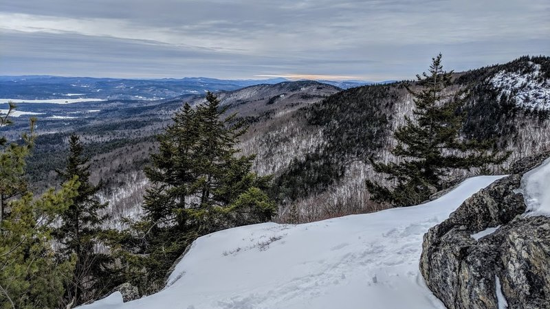 Ledges below the summit of Mt. Percival 3/2/19