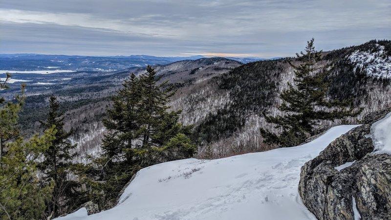 Ledges below the summit of Mt. Percival 3/2/19