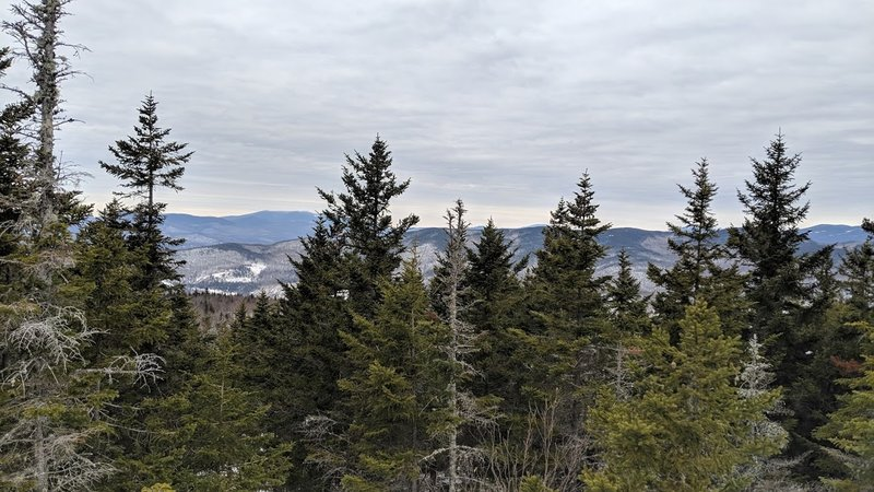 Mt. Morgan Summit. 365 deg. of this. Ledges below have nice views.