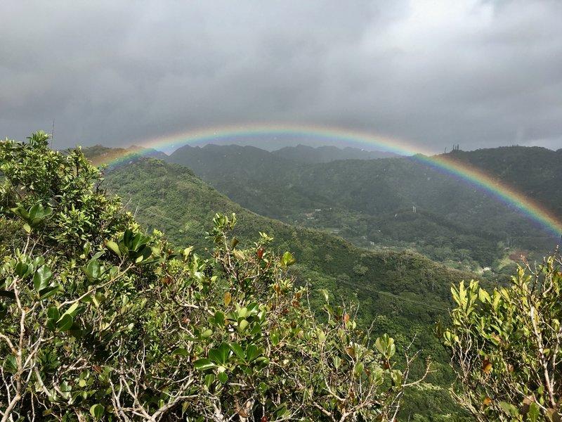 Rainbow on the way back