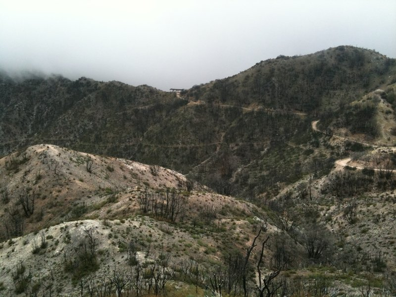 Back side of Inspiration Point from Mt. Lowe East Trail after Station Fire