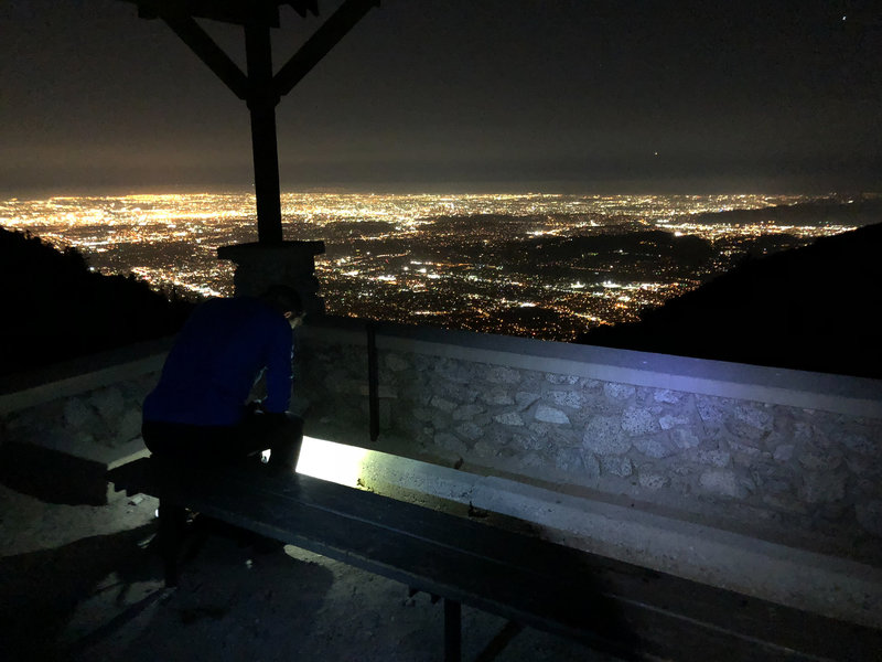 View from Inspiration Point at Night