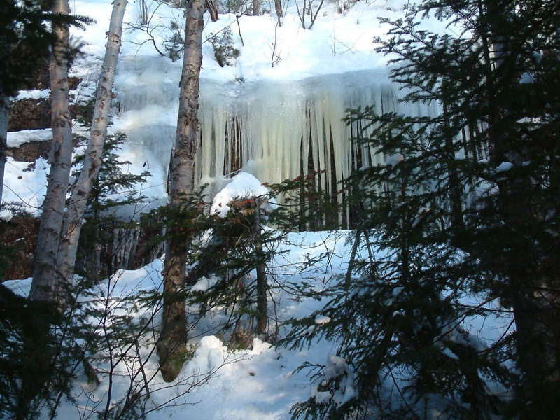 Ice falls on Colin's Heritage Trail