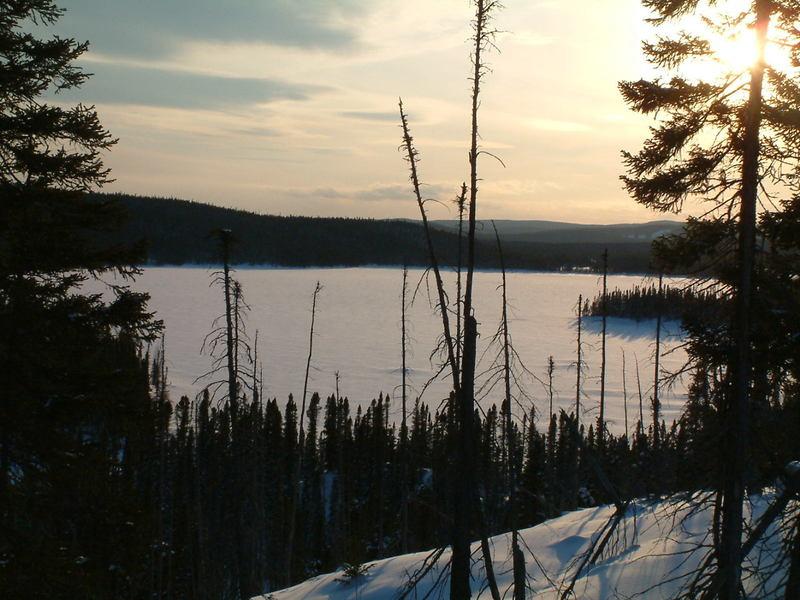 McLean Lake at dusk