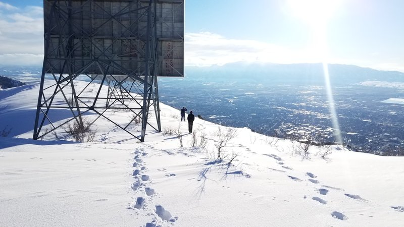 Repeaters on the summit overlooking Cache Valley